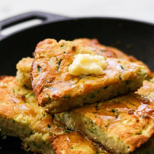 Paleo Zucchini Cornbread Without Corn (Nut Free)
