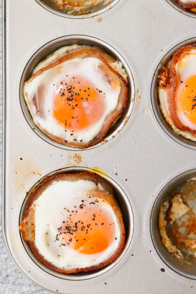 Whole30 egg muffins in the baking pan