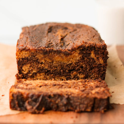 Marbled Paleo Chocolate Pumpkin Bread