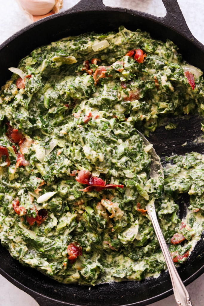paleo creamed spinach with bacon