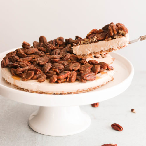 Paleo & Vegan Pecan Pie Cheesecake (No Bake)