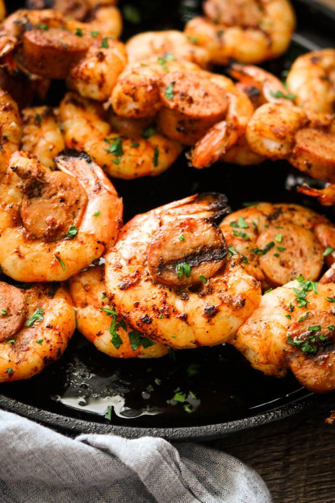 Keto shrimp and sausage