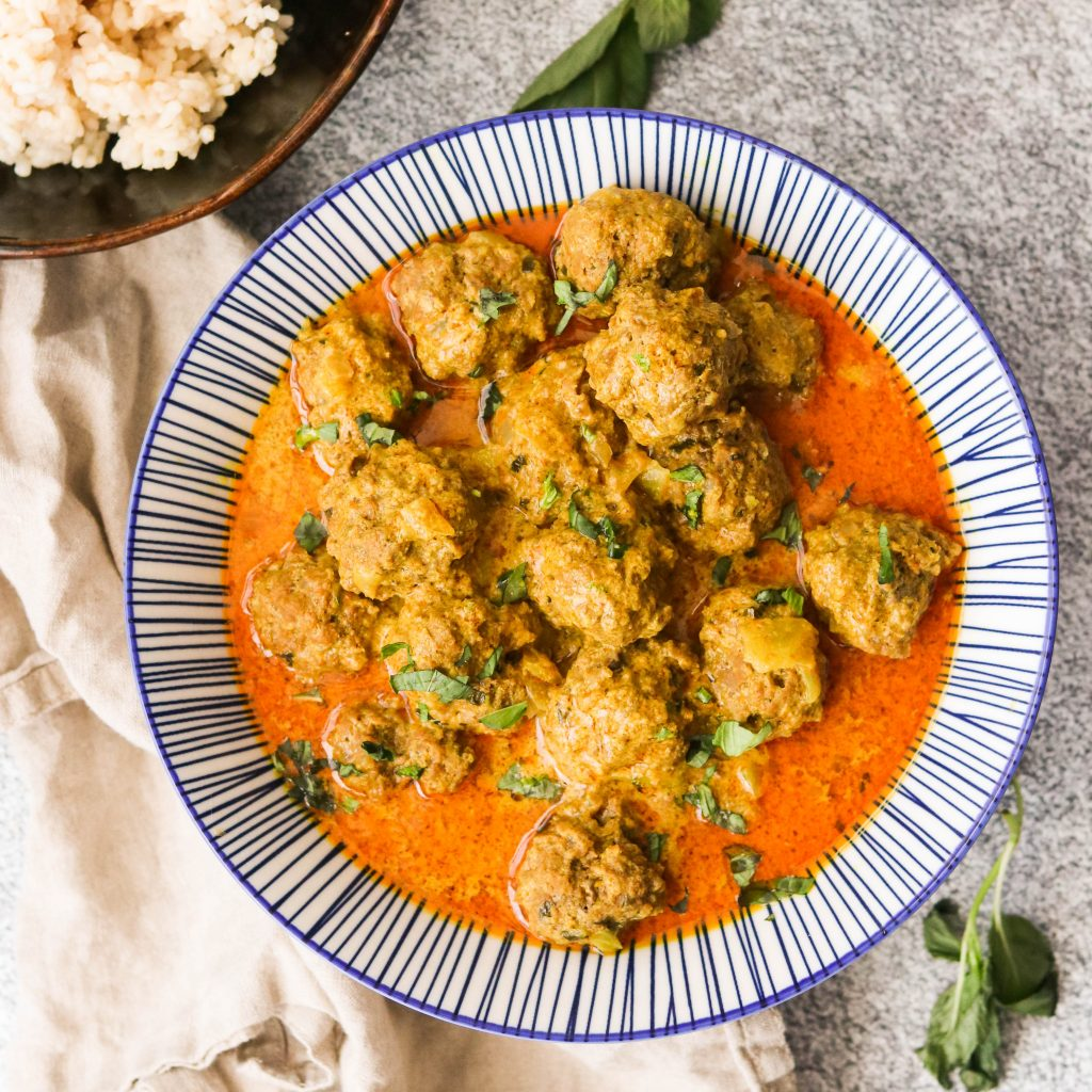 Instant Pot Thai Coconut Curry Meatballs – Includes Stovetop Instructions (Paleo, Whole30, Keto)