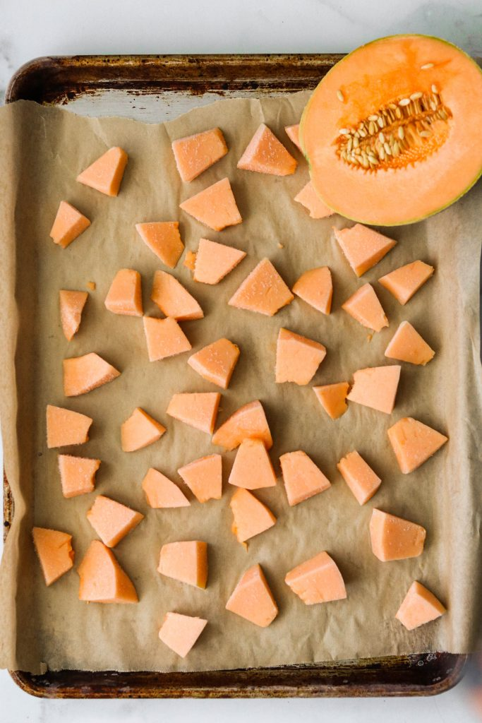 how to make fresh fruit sorbet with cantaloupes