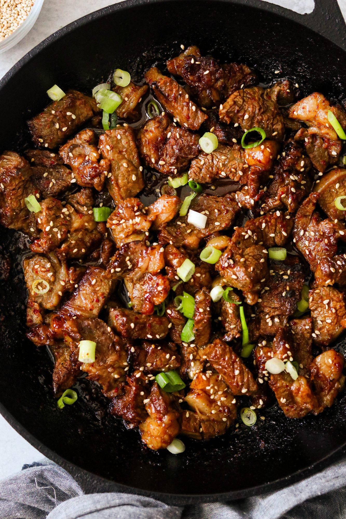 bulgogi steak bites-6 - What Great Grandma Ate