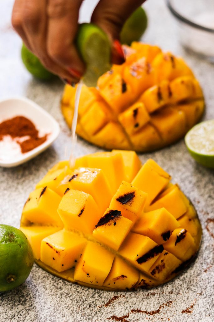 spicy mexican mango with lime juice
