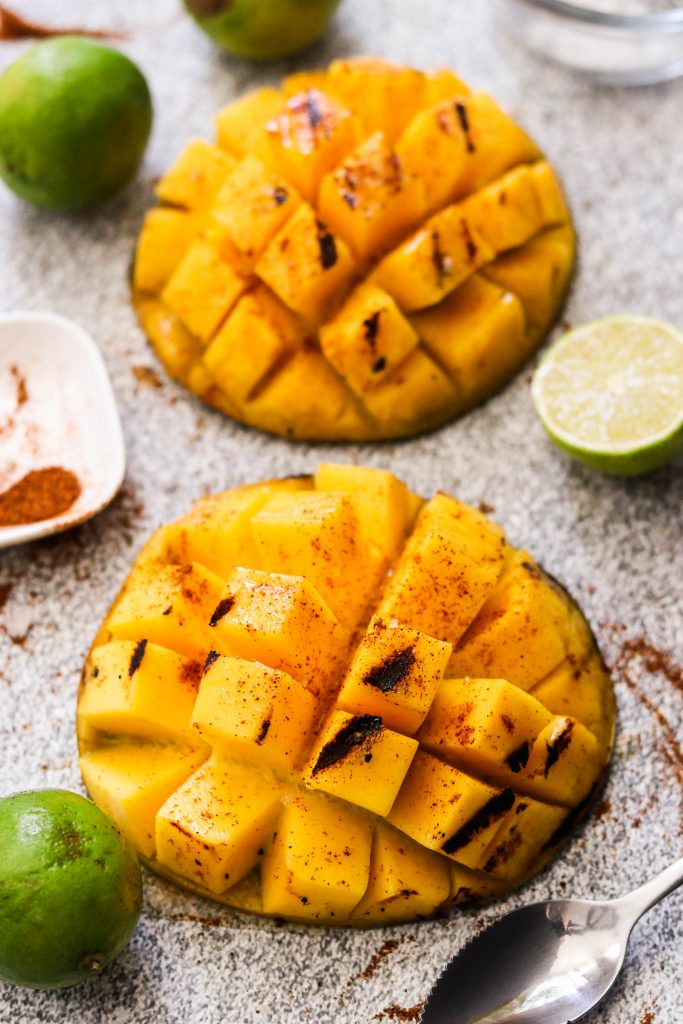 grilled chili lime mango