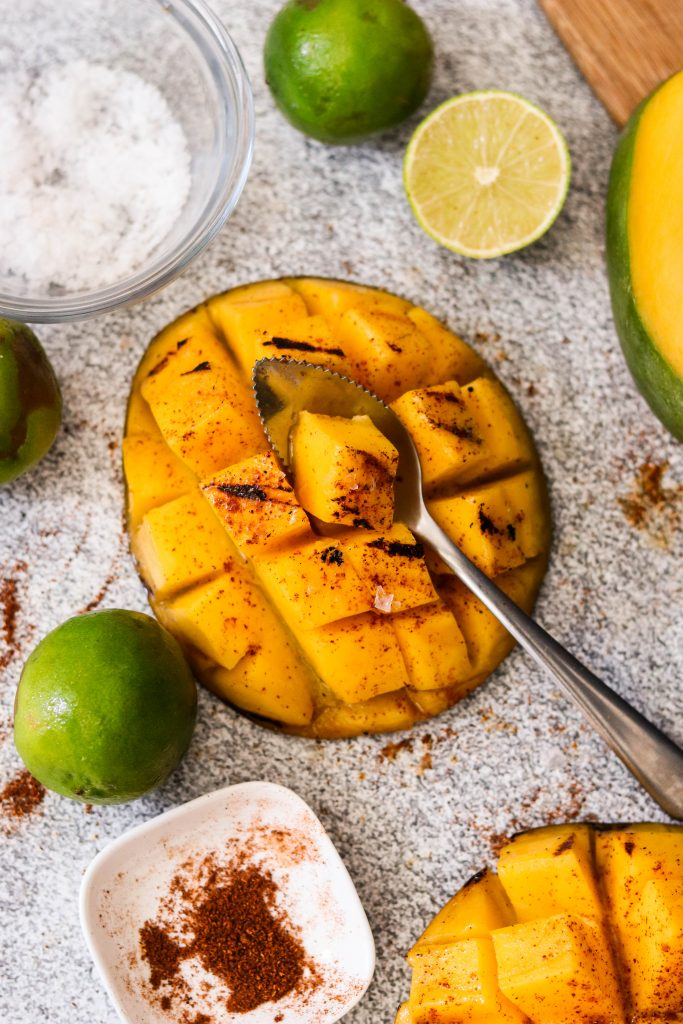 chili lime mango grilled dessert