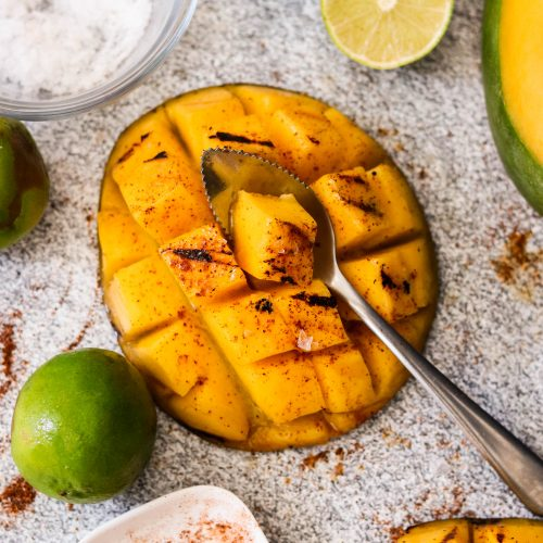 Grilled Mexican Chili Lime Mango (Paleo, Whole30, Vegan)