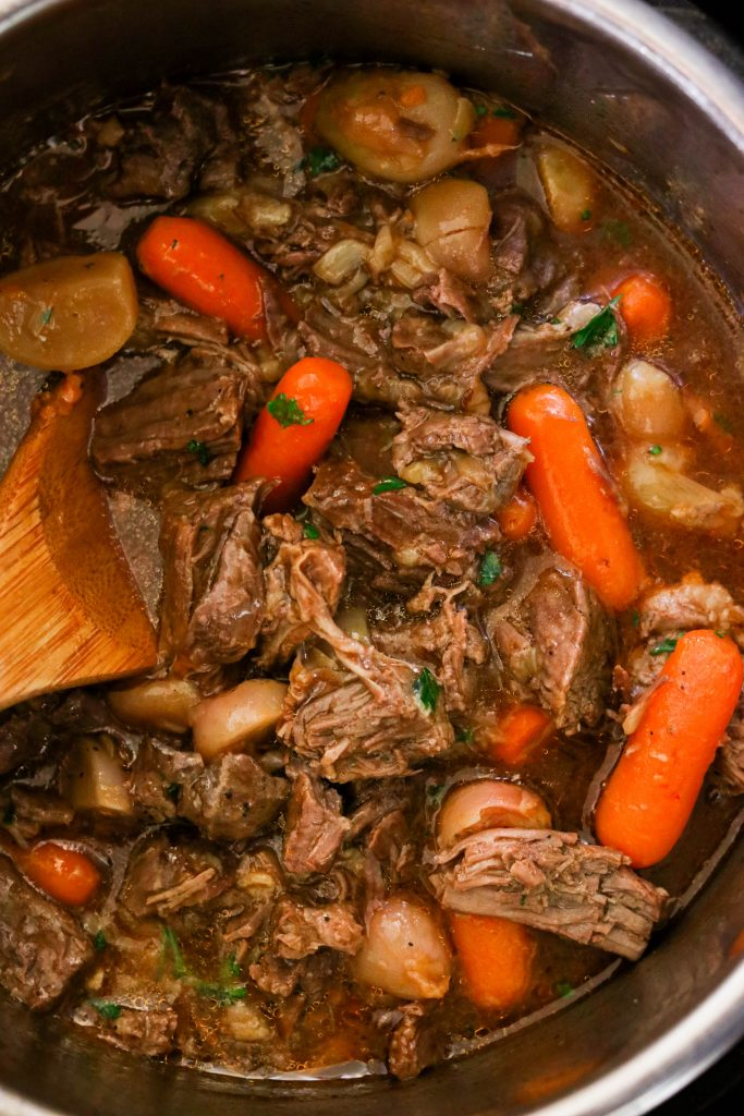 Whole30 pot roast cooked in the Instant Pot