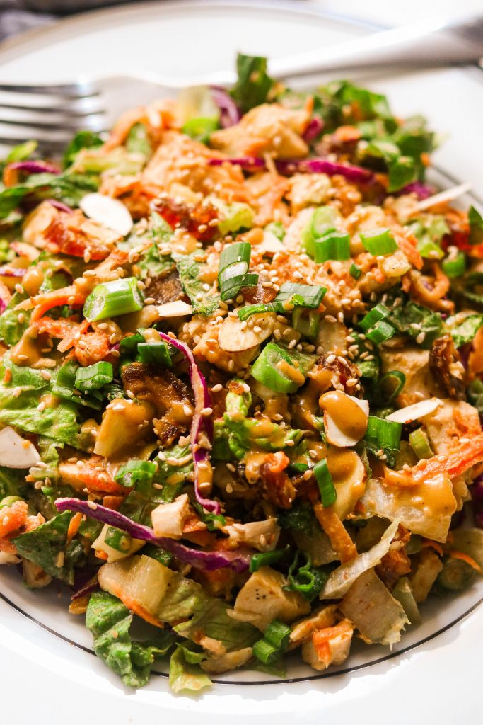 close up of paleo chinese chicken salad