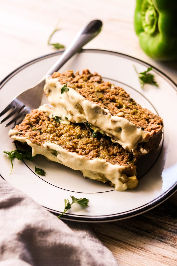 easy paleo meatloaf recipe sliced and served on a plate