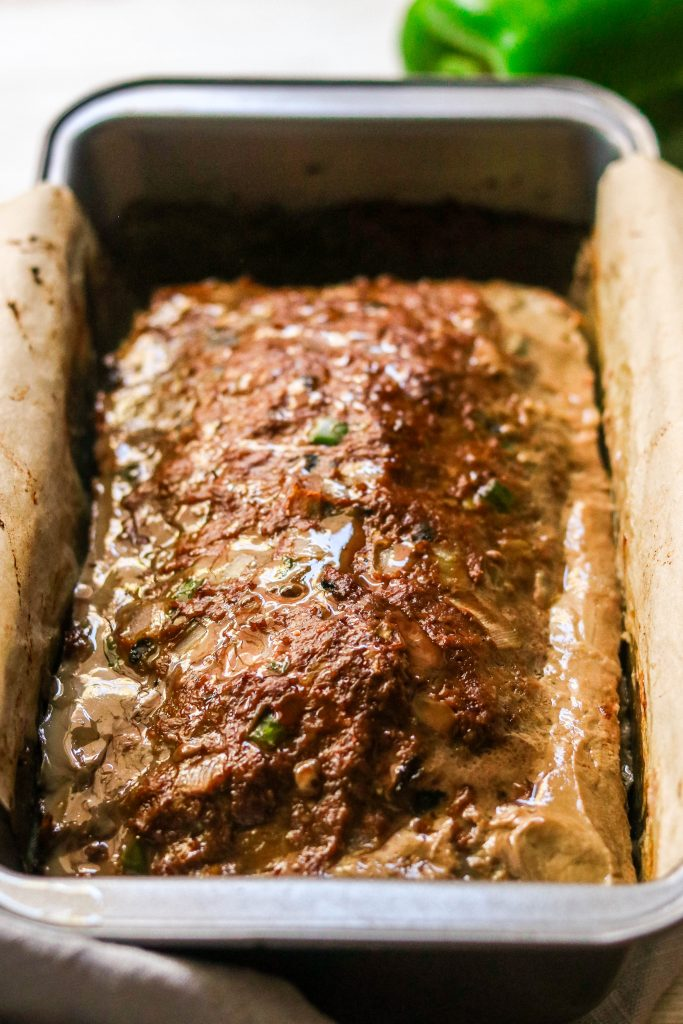 whole30 meatloaf recipe fresh out of the oven