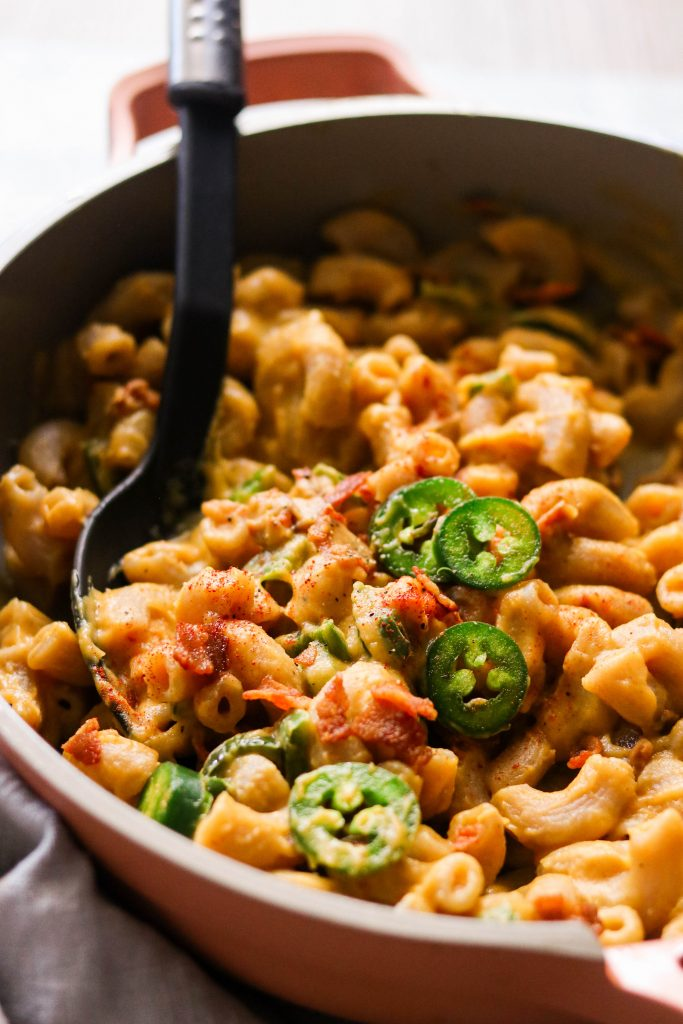 close up of best dairy free mac and cheese recipe