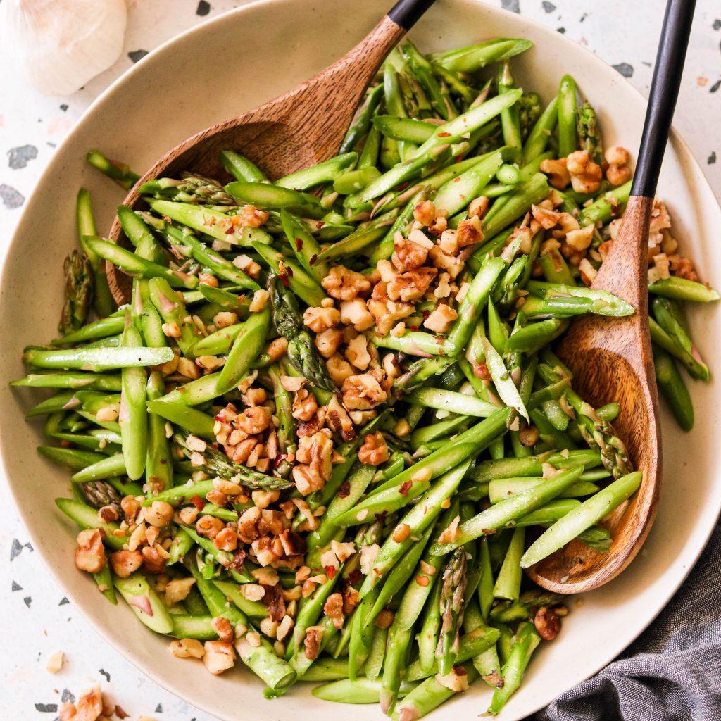 Raw Asparagus Salad (Paleo, Whole30, Vegan, Low Carb)