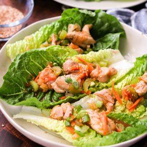 sriracha chicken lettuce wraps