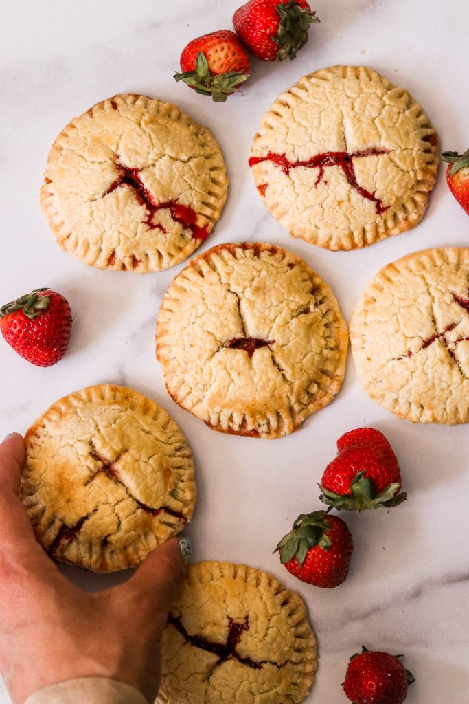 paleo strawberry hand pies baked on the counter