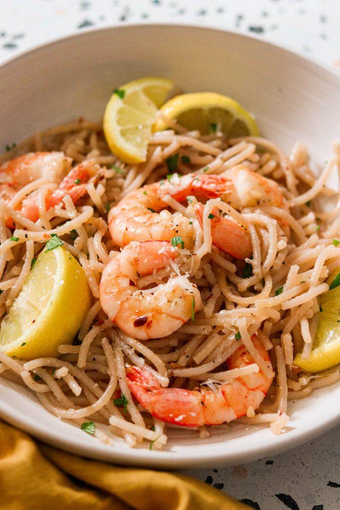 how to make garlic shrimp pasta