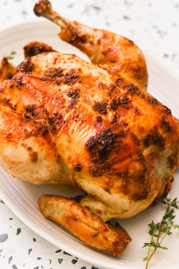 crispy skin rotisserie air fryer chicken