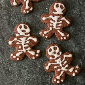 Halloween Skeleton Gingerbread Men Cookies